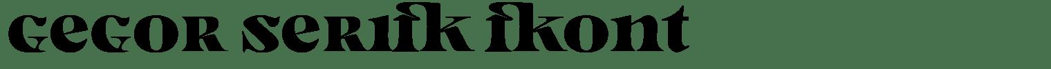 Gegor Serif Font
