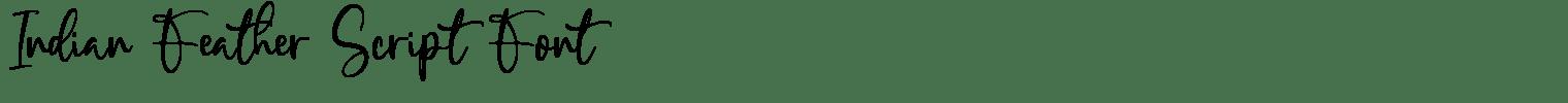 Indian Feather Script Font