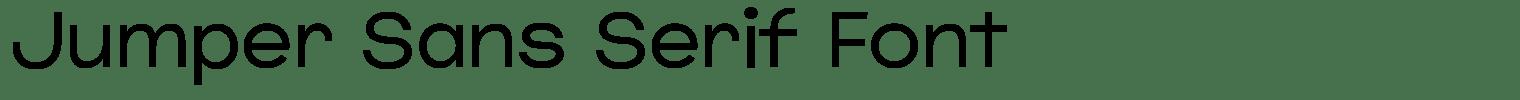 Jumper Sans Serif Font