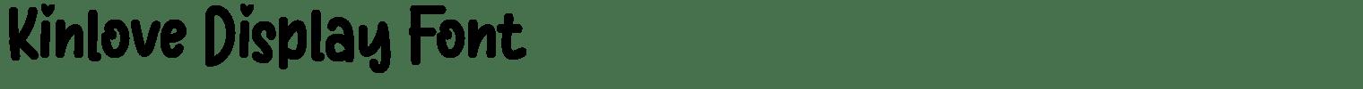 Kinlove Display Font