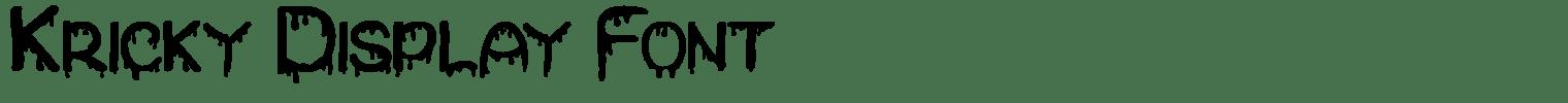 Kricky Display Font
