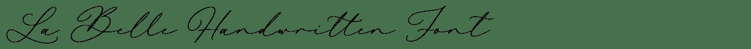 La Belle Handwritten Font
