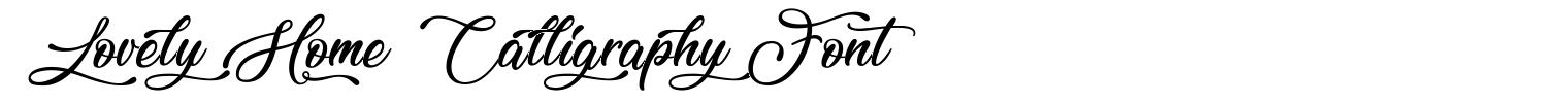 Lovely Home Calligraphy Font