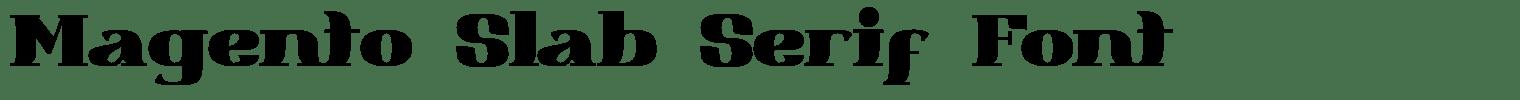 Magento Slab Serif Font