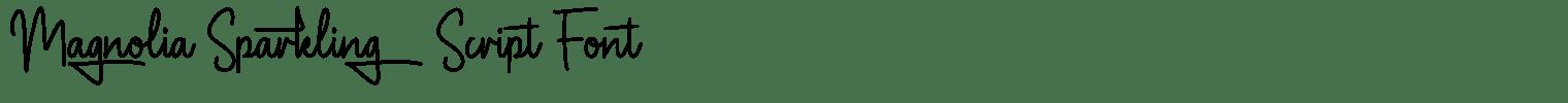 Magnolia Sparkling Script Font
