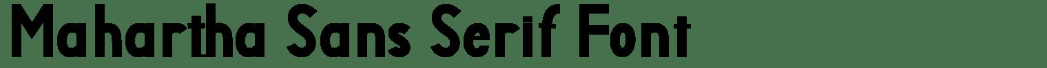 Mahartha Sans Serif Font
