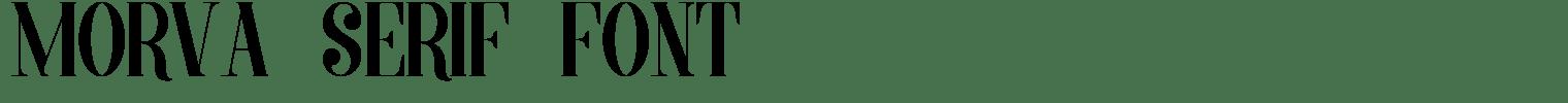 Morva Serif Font