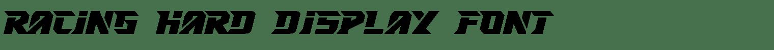 RACING HARD Display Font