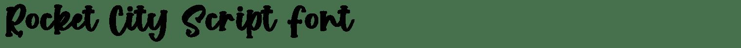 Rocket City Script Font