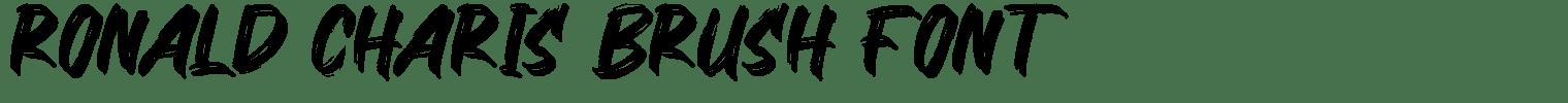 Ronald Charis Brush Font