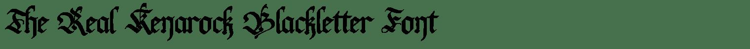 The Real Kenarock Blackletter Font