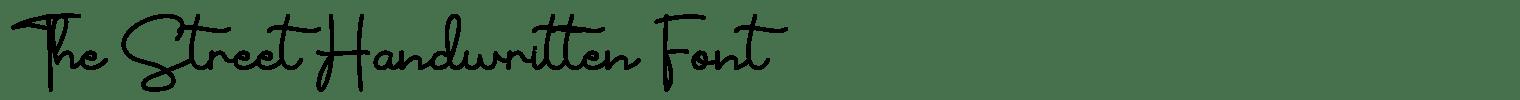 The Street Handwritten Font