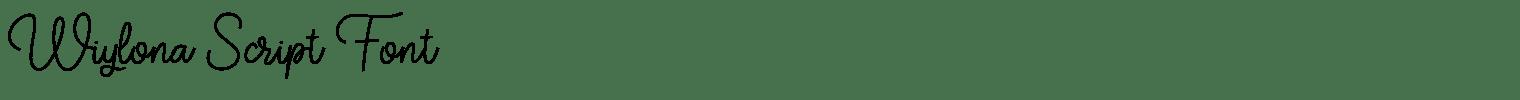 Wiylona Script Font