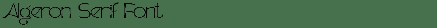 Algeron Serif Font