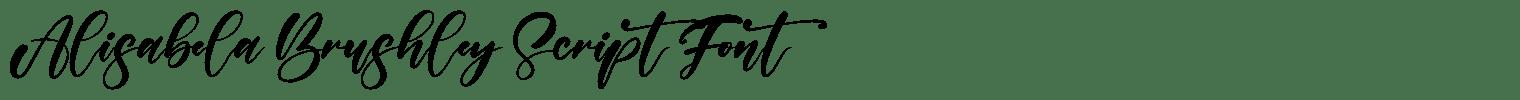 Alisabela Brushley Script Font