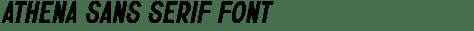 Athena Sans Serif Font