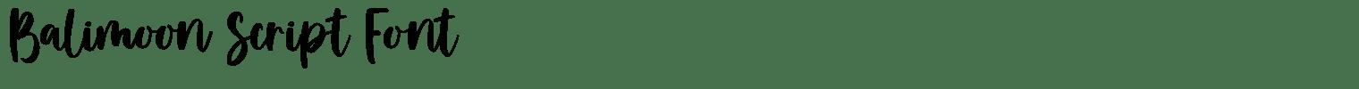 Balimoon Script Font