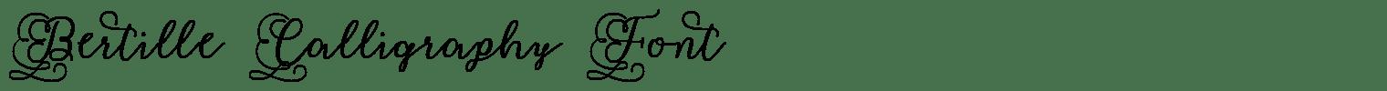 Bertille Calligraphy Font