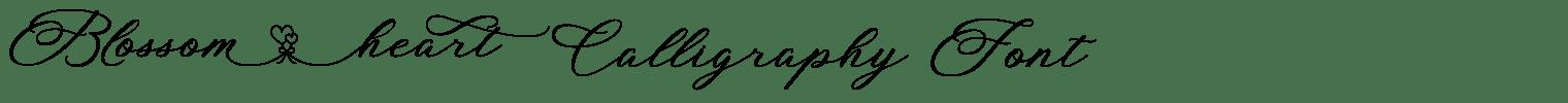 Blossom Heart Calligraphy Font