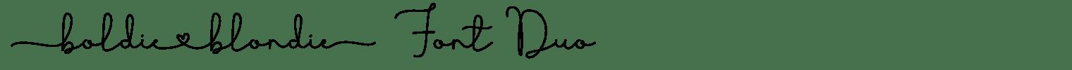 Boldie Blondie Font Duo