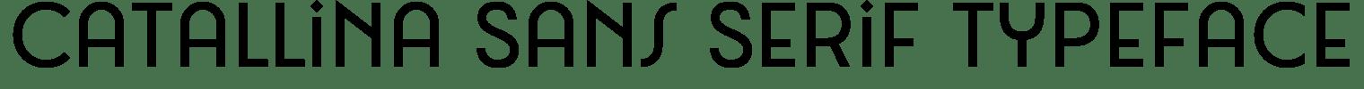 Catallina Sans Serif Typeface