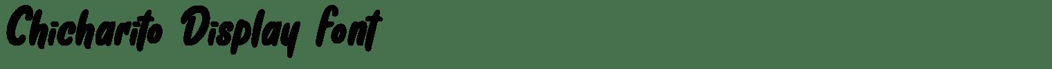 Chicharito Display Font