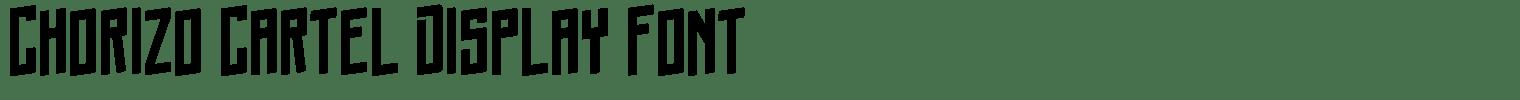 Chorizo Cartel Display Font