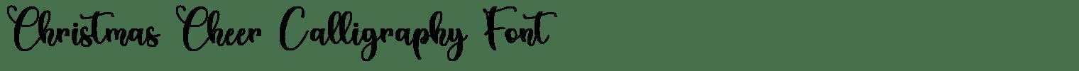 Christmas Cheer Calligraphy Font