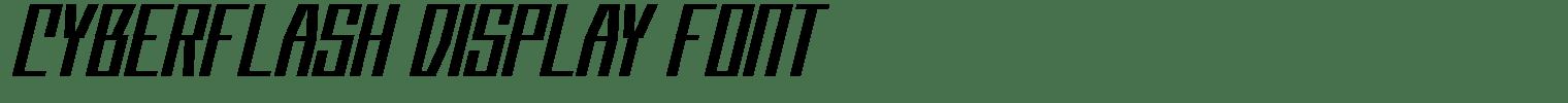 Cyberflash Display Font