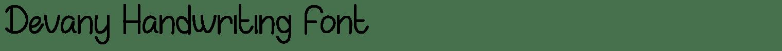 Devany Handwriting Font
