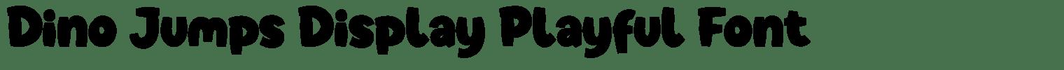 Dino Jumps Display Playful Font