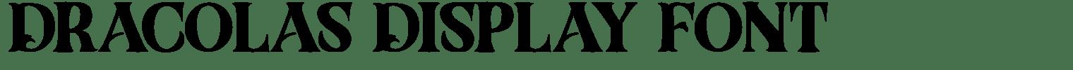 Dracolas Display Font