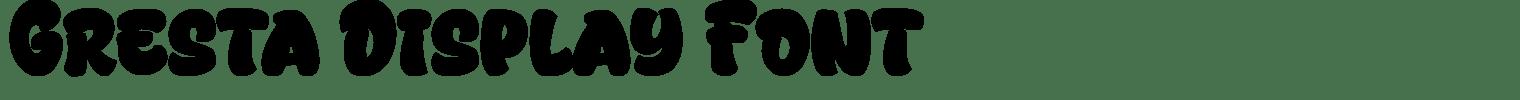 Gresta Display Font