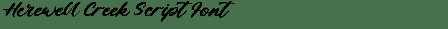 Herewell Creek Script Font