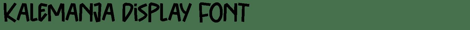 Kalemanja Display Font