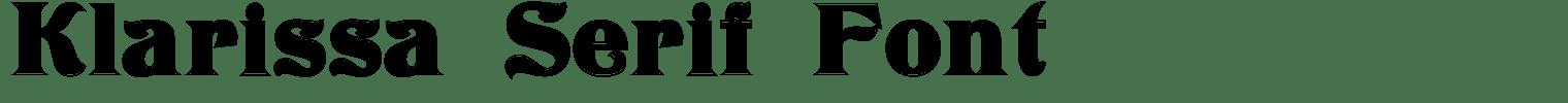 Klarissa Serif Font