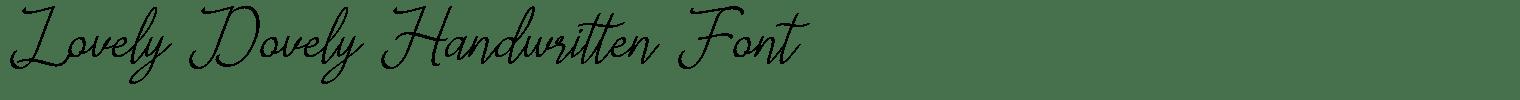 Lovely Dovely Handwritten Font