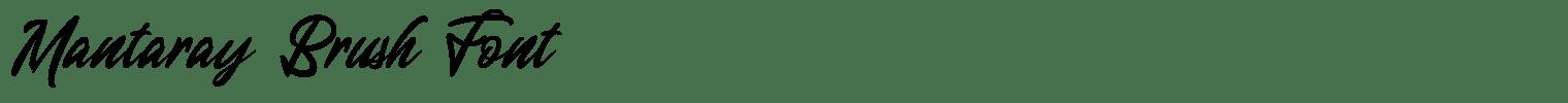 Mantaray Brush Font