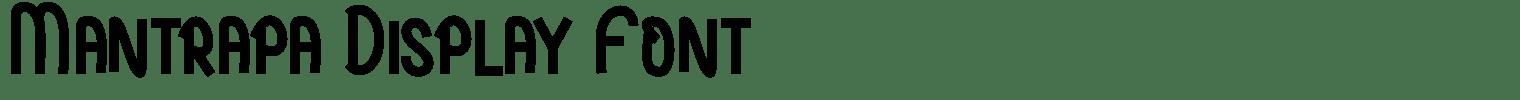 Mantrapa Display Font