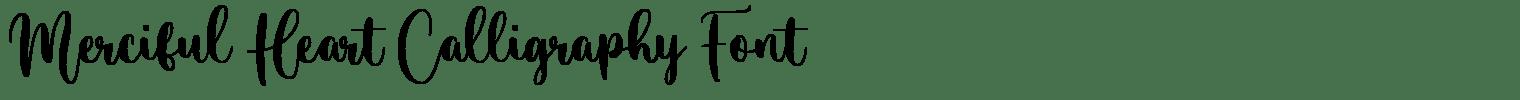 Merciful Heart Calligraphy Font