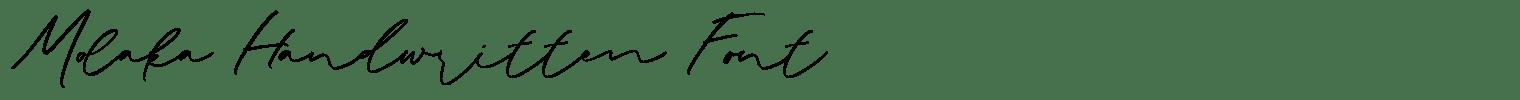 Molaka Handwritten Font