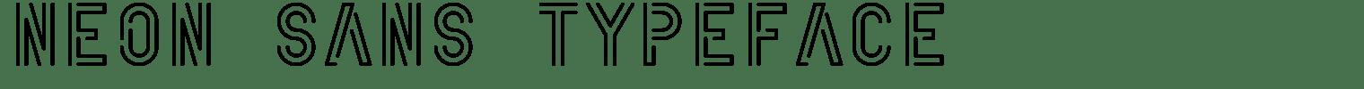 Neon Sans Typeface