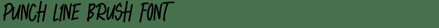 Punch Line Brush Font