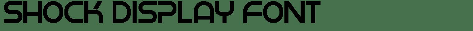 Shock Display Font