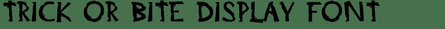 Trick Or Bite Display Font