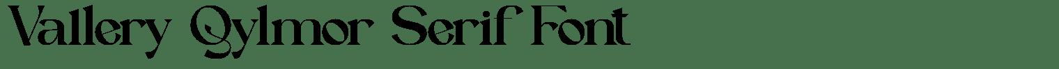Vallery Qylmor Serif Font