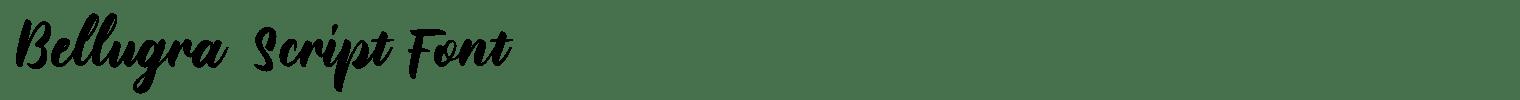 Bellugra Script Font