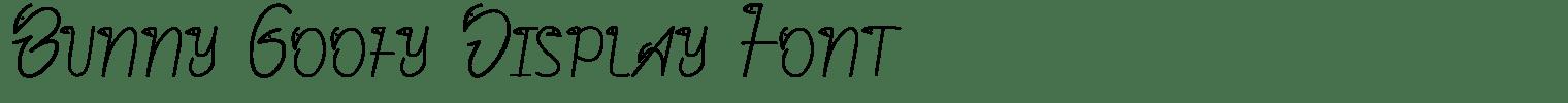 Bunny Goofy Display Font