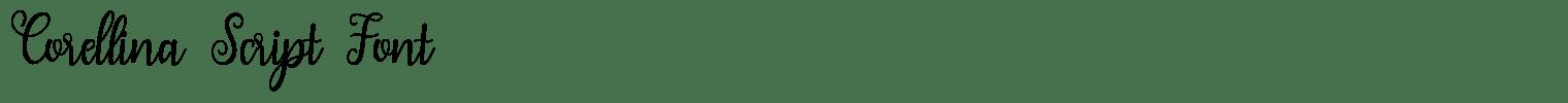 Corellina Script Font