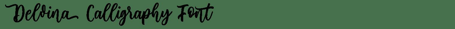 Delvina Calligraphy Font